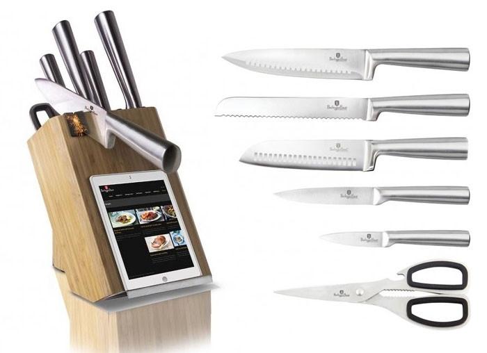 Ножи в подставке с заточкой Berlinger Haus 8пр
