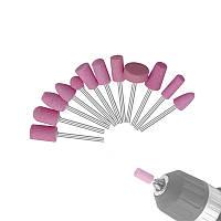 12шт. Абразивные насадки для дремеля фрезера 6-15 мм набор
