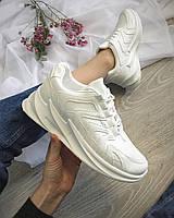 Кроссовки женские еко-кожа (38-41), цвет: белий. код 352042
