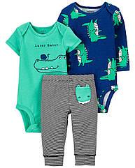 "Набор Carter's ""Крокодил""  для мальчика два боди + штанишки"