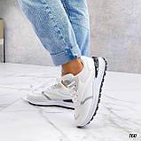 Жіночі кросівки на масивній підошві білі чорні сірі, фото 2