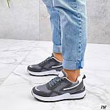Жіночі кросівки на масивній підошві білі чорні сірі, фото 5