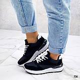 Жіночі кросівки на масивній підошві білі чорні сірі, фото 4
