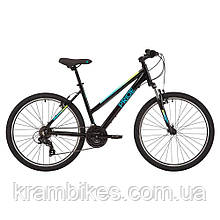 "Велосипед Pride - Stella 6.1 (2021) (26""-S) Чёрный/Синий"