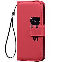 Чехол-книжка Animal Wallet для Xiaomi Redmi Note 8 Pro Cat