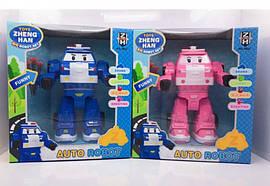 Трансформер Robocar Poli 2 види світ. муз. 20см 0832