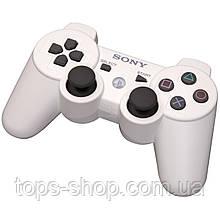 Джойстик контроллер геймпад для Sony PlayStation 3 DualShock Беспроводной ps3 bluetooth пс3 белый ( Реплика )
