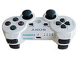 Джойстик контролер геймпад для Sony PlayStation DualShock 3 Бездротовий ps3 bluetooth пс3 білий ( Репліка ), фото 4