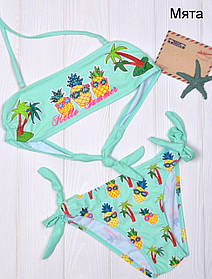 Дитячий купальник для пляжу Ананас р.28 м'ята