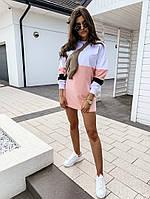 Женское стильное мини платье с длинным рукавом, фото 1