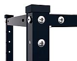 Стеллаж РЕК-3, черный 1500х750х300мм, 35кг, 4 полки, металлический, полочный для ванной, дома, офиса, фото 3