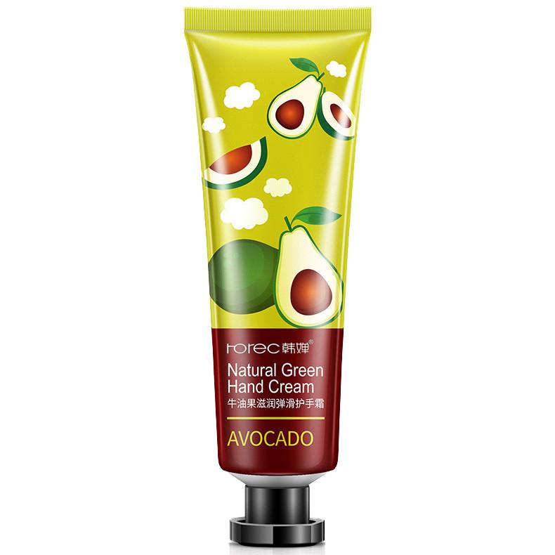 Крем для рук з екстрактом авокадо Rorec Avocado Natural Green Hand Cream, 30г