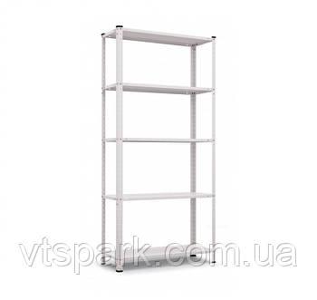 Стеллаж Элегант-1 белый 1840х950х340мм, 50кг, 5 полок, металлический, полочный для дома, офиса