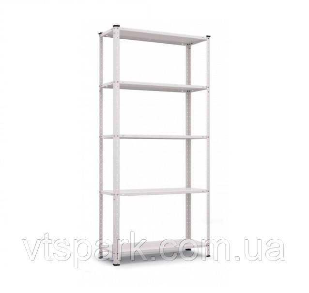Стеллаж Элегант-2 белый 1840х950х440мм, 50кг, 5 полок, металлический, полочный для офиса, дома