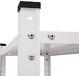 Стеллаж Элегант-2 белый 1840х950х440мм, 50кг, 5 полок, металлический, полочный для офиса, дома, фото 4