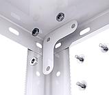 Стеллаж Элегант-2 белый 1840х950х440мм, 50кг, 5 полок, металлический, полочный для офиса, дома, фото 5