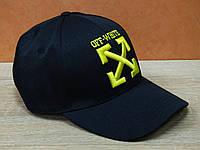 Черная кепка с ярким значком OFF White