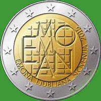 Словения 2 евро 2015 г. 2000 лет римскому поселению Эмона . UNC.
