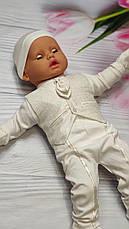 """Костюм для новонародженого хлопчика """"Джентельмен"""" на виписку / на водохреща - 6 предметів - Туреччина, фото 3"""