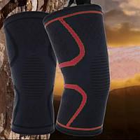 Наколенник эластичный для спорта XL Бандаж на колено для баскетбола, йоги и т.д. (black&red)