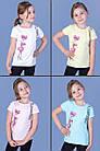 Детская футболка  (девочка), 3-4-5-6 лет, фламинго, фото 2