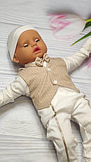 """Костюм для новорожденного мальчика """"Джентельмен"""" на выписку / на крещение - 6 предметов  - Турция, фото 3"""