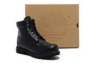 Ботинки мужские Timberland Classic 6 inch Black Boots (тимберленд) черные, фото 1