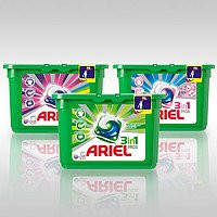 Гель в капсулах Ariel Color & Style+Lenor 28 шт