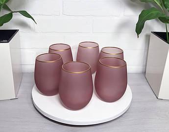Стакан для соку рожевий Пінк Леді 500мл 6шт