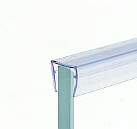Накладка на торец двери для душевой кабины ( ФС 01 В ) длина 2м. ресница 12 мм.