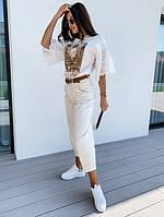 Жіночі стильні укорочені джинси, фото 1
