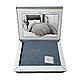 Плед-покривало бавовняний 180х240 сірий Maison Dor Paris Emeline antrasit, фото 4