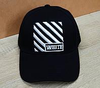 Коттоновая кепка черного цвета в стиле OFF-White