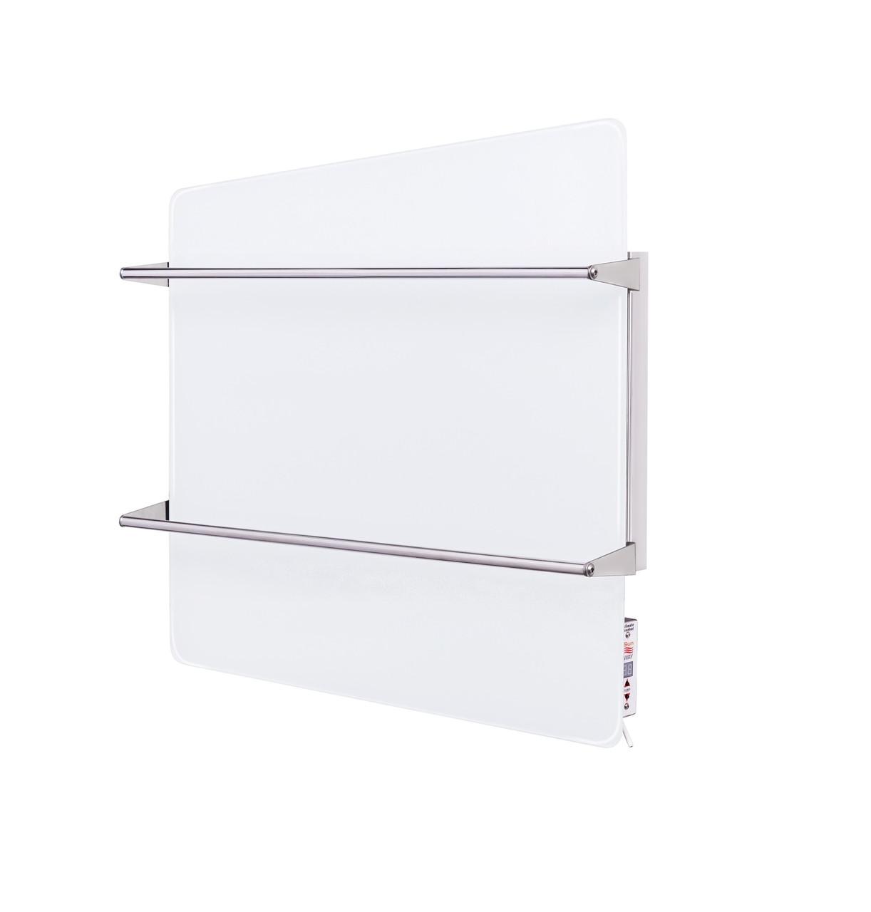 Інфрачервоний полотенцесушитель SunWay SWGT-RA 400 Вт. з терморегулятором, скло-нерж. 600х600мм. Україна,