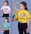 Детская укороченная футболка с капюшоном  (девочка), 6-8-10-12 лет , Impostor, фото 2