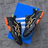 Мужские кроссовки Adidas Ozweego Black Orange Green, фото 3