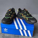 Мужские кроссовки Adidas Ozweego Black Orange Green, фото 4