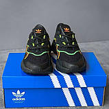 Мужские кроссовки Adidas Ozweego Black Orange Green, фото 6
