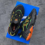 Мужские кроссовки Adidas Ozweego Black Orange Green, фото 7