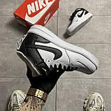 Мужские/ женские кроссовки Nike Air Force 1 High Utility White Black, фото 4