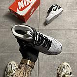 Мужские/ женские кроссовки Nike Air Force 1 High Utility White Black, фото 5