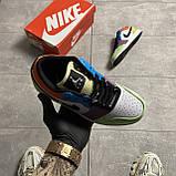 Жіночі кросівки Nike Air Jordan 1 Low Multicolor, фото 5