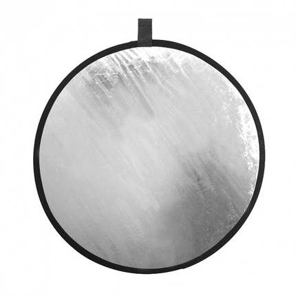 2 в 1 Двухсторонний золотистый и серебристый рефлектор 80 см, фото 2