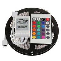 Набор освещения LED Stripe RGB, комплект led лента 5050 цветная, с блоком и пультом,