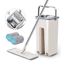 Швабра лентяйка с автоматическим отжимом Scratch Cleaning Mop, с ведром