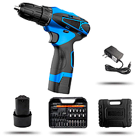 Аккумуляторный шуруповерт 12V с набором Cordlles Drill Pro, набор бит и запасной аккумулятор