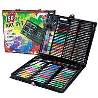 Большой набор для рисования Artists Corner 150 предметов. Полный набор художника для детей