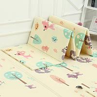 Вспененный детский развивающий коврик XPE Children GO 180* 150 , двусторонний, с текстурным покрытием