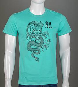 Футболка мужская Китайский Дракон (2113м), Мята
