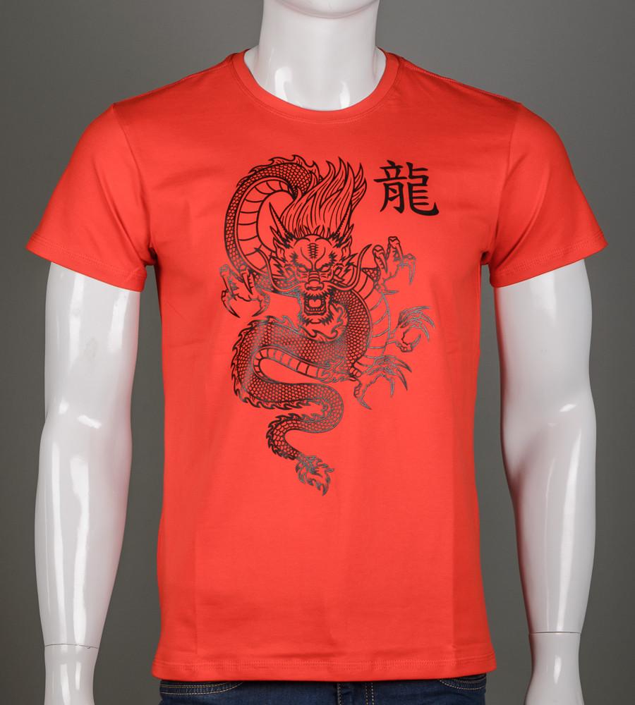 Футболка чоловіча Китайський Дракон (2113м), Червоний